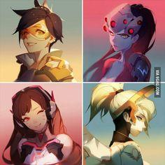 Overwatch girls - fan art