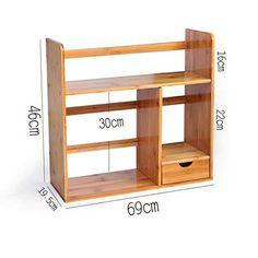 Bookcases, Cabinets & Shelves Bookshelf Natural Bamboo Organiser Desktop Stand Display Storage Office Home Household CJC (Size : Home Decor Furniture, Furniture Plans, Furniture Design, Diy Pallet Projects, Wood Projects, Bookshelves, Bookcase, Desktop Organization, Aesthetic Room Decor