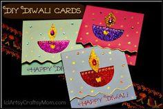 How to make a Diwali greeting card