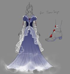 This is the Outfit-Prize for Tora-Sayo Who was the only one who participated in my Cabaret-Voltaire-Contest xD It's a dress for her godess OC (human for. Outfit Prize for Tora-Sayo Dress Drawing, Drawing Clothes, Dress Sketches, Fashion Sketches, Character Inspiration, Character Design, Fantasy Dress, Fantasy Outfits, Anime Dress