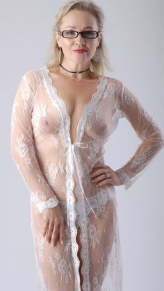 Halter mesh nightwear women's see