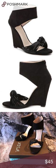 """Wedge Sandals NIB Wedge Sandals by N.Y.L.A. NWT NIB Zippered Heel  Wedge = 4 1/4"""" N.Y.L.A. Shoes Wedges"""