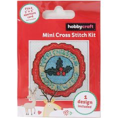 Christmas And New Year Mini Cross Stitch Kit | Hobbycraft