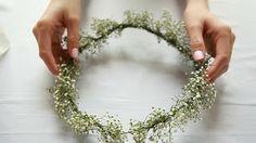 Lynette Tee | Makeup Beauty Blog | Makeup and Hair Tutorial: DIY Flower Crown simple baby's breath crown