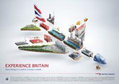 amazing!! British Airways - Experience Britain by Peter Jaworowski, via Behance