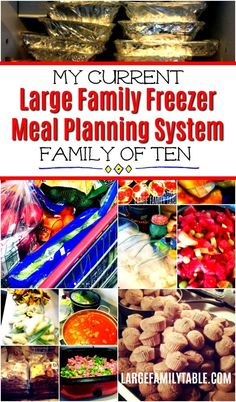 My Current Large Family Freezer Meal Planning System (including a One Week Large Family Freezer Meal Plan) - Larg healthy family meals Healthy Family Meals, Make Ahead Meals, Meals For Two, Healthy Recipes, Tasty Meals, Cooking For A Crowd, Cooking On A Budget, Freezer Cooking, Real Cooking