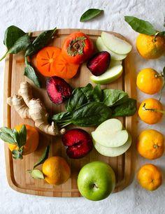 plum & persimmon green smoothie
