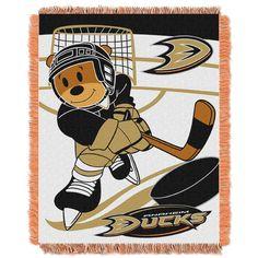 Anaheim Ducks NHL Triple Woven Jacquard Throw (Score Baby Series) (36x48)