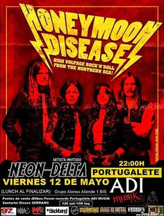 HONEYMOON DISEASE | Adimusik, Portugalete, 12/V/2017 | Cartel de Honeymoon Disease | GALERÍA completa || Full GALLERY: http://denaflows.com/galerias-de-fotos-de-conciertos/h/honeymoon-disease/