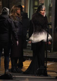 "Larry Andreutti: ""Cruella de Vil is not the only new character coming to Storybrooke (seen here with Cruella) #OnceAUponATime #OUAT"""