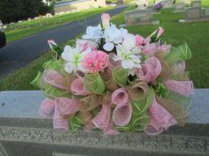 Headstone saddle Grave decoration Gravestone by DecoMeshObsession