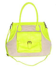 neon and khaki handbag?  super cheap?  literally going to urban to buy this tom'w.