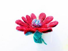 Cherry Flower, Boho Flowers, Gift Wraping, Flower Brooch, Hair Clips, Recycling, Ribbon, Presents, Brooches