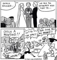 Pokemon Go fans on wedding be like.. lol