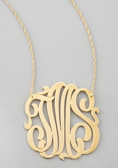 monogram pendant necklace. i'm in love!