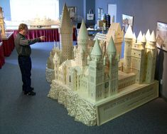 Then there's this crazy replica of Hogwarts crafted from 602,000 matchsticks. | The 24 Most Magical Tributes ToHogwarts