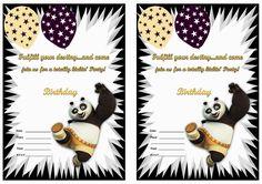 Kung Fu Panda Birthday Invitations – Birthday Printable Panda Birthday Party, Panda Party, Birthday Dates, 5th Birthday, Free Printable Birthday Invitations, Party Printables, Free Printables, Po Kung Fu Panda, Karate Party