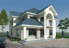 Dar Es Salaam, Kuta, Roof Styles, House Styles, Library Room, Public Bathrooms, Monster House Plans, Unique House Design, Floor Layout