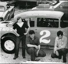 Mark Martins first race car 1974 Nascar Race Cars, Old Race Cars, Dirt Track Racing, Auto Racing, Vintage Race Car, Car Pictures, Photos, Fast Cars, Retro