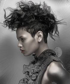 A cool and funky hair cut