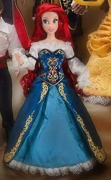 Ariel doll with blue dress