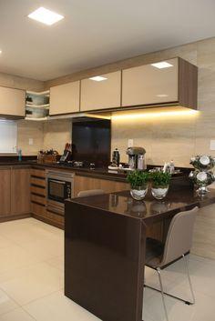 Detalhes do projeto Studio Kitchen, Kitchen Room Design, Kitchen Cabinet Design, Modern Kitchen Design, Interior Design Living Room, Kitchen Decor, Kitchen Modular, Modern Kitchen Cabinets, Home Decor Furniture