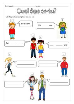 FRENCH - How old are you? - Quel âge as-tu? et C'est quand ton anniversaire? - Worksheets by labellaroma - Teaching Resources - Tes French Worksheets, First Grade Worksheets, French Teaching Resources, Teaching French, French Language Lessons, French Lessons, French Phrases, French Words, Language Activities