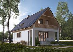 LK&471 Dom jednorodzinny, parterowy, z poddaszem użytkowym i dwustanowiskowym garażem w podpiwniczeniu. Więcej na: http://lk-projekt.pl/lkand471-produkt-410.html
