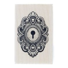 "Give your projects and crafts an added dose of inspiration and creativity with this Ornate Lock Rubber Stamp. Featuring a design etched in pink rubber and set against a wooden block, this stamp is fun and easy to use. Use any color ink pad (sold separately) for personalized creations.    	Dimensions:    	Wooden Block:    	  		Length: 2 1/2""  	  		Width: 1 9/16""  	  		Depth: 3/4""      	Rubber Shape:    	  		Length: 2 1/8""  	  		Width: 1 1/2"""