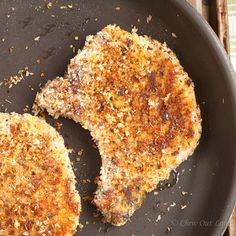Parmesan 'n Panko Crusted Pork Chops - Chew Out Loud looks great I am going to try this and hope its wonder, anything with Parmesan usually is scrumptious.....