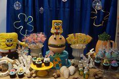 Spongebob Birthday Party, Birthday Party Decorations, Children, Cake, Ideas, Party, Young Children, Boys, Kids