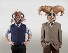 Eugene Paunil's cardboard masks