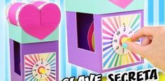 Make a gift with a secret key – the combination lock Paper Gift Box, Diy Gift Box, Easy Diy Gifts, Make A Gift, Handmade Gifts, Crafts To Make And Sell, Diy Crafts For Kids, Easy Crafts, Craft Ideas