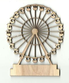 Circus Ferris Wheel Unfinished Laser Cut Wood CRC5
