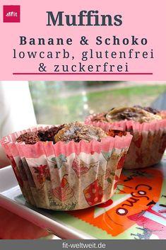 #Rezept: Frische Bananen #Schoko #Muffins mit Reismehl. Extra Trick für einen flüssigen Kern Wenn du möchtest, dass der Kern der Schokomuffins noch flüssig ist und er sozusagen noch eine saftige Schokofüllung hat, lasse die Muffins nur 10-12min im Ofen. #lowcarb Zutaten: 100g Reismehl 100g Haferkleie (#glutenfrei) 3 reife #Bananen 1 Esslöffel Stevia/#Xucker 2 Eiklar 2 Esslöffel Kakao Vanillin, Zimt ggf. Nüsse zum Dekorieren