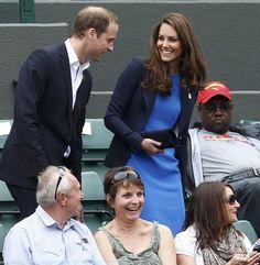 William & Kate - Smythe Navy Blazer & Stella McCartney Blue Dress London Olympics 2 August 2012