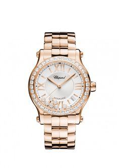 Chopard Watches Happy Sport Medium Automatic 18-carat rose gold and diamonds