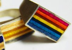Lindsay Jo Holmes  Boyfriend Ring   (crafted from recycled skateboard)