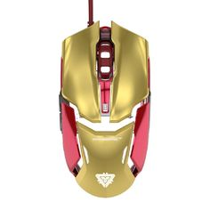 Iron Man Gaming Mouse http://www.wicked-gadgets.com/iron-man-mouse/ #ironman #gadgets