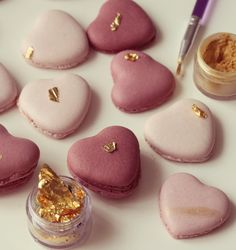 Heart shaped Valentine macarons | Passion 4 baking