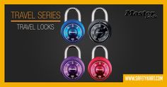 Masterlock Mini Fixed Combination padlocks were inspired by the design and the safety mechanism of a safe. Available in different trendy bright colours. Ideal for securing lockers, back packs or sport bags.