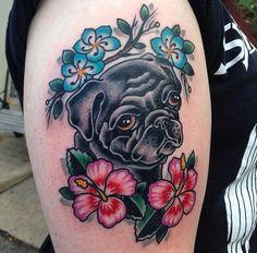 pug tattoo | Tumblr