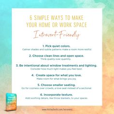 6 simple ways to make your home or work space introvert-friendly Greater Good, Wall Street Journal, Energy Level, How To Remove, How To Make, Introvert, Pattern Making, Simple Way, In This World