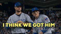 mlb baseball cubs chicago cubs rizzo cubbies anthony rizzo got him jon lester i think we got him trending #GIF on #Giphy via #IFTTT http://gph.is/2eyWGI3