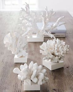 Faux Coral Sculptures - Inspiration from the Sea - Coral Washed Up by the Waves or The White Coral Reef. #Horchow: