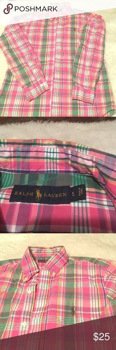 Ralph Lauren long sleeve button down Spring colored multiple colored long sleeve Ralph Lauren button down men's shirt like new.. excellent condition Polo by Ralph Lauren Shirts Dress Shirts