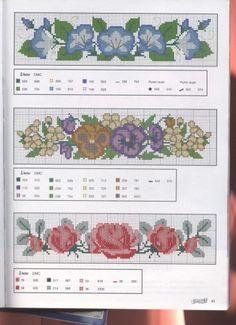 Para toallas. Tomado de http://www.imagui.com/a/cenefas-punto-de-cruz-para-toallas-cLLreA5rb