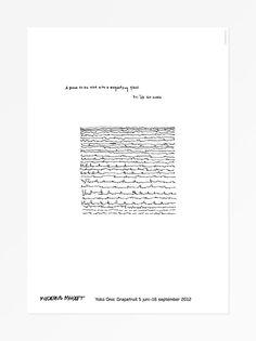 Yoko Ono - Un poème à lire avec une loupe 70x100
