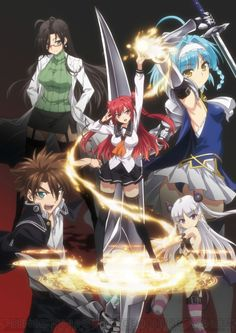 Winter Shin Maou no Testament: Like Strike the Blood is to Index, this is apparently to DxD. Not a complaint. Tv Anime, Anime Love, Manga Anime, Anime Art, Strike The Blood, German Anime, Accel World, Basara, Anime Guys