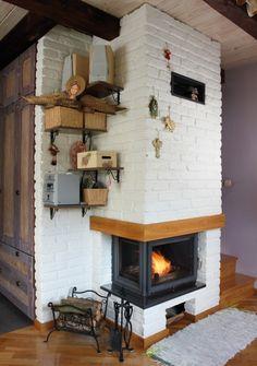Czym się kierować przy doborze kominka? Minimalism, Home Appliances, Living Room, Wood, Fireplaces, Houses, Interiors, Home Decor, School